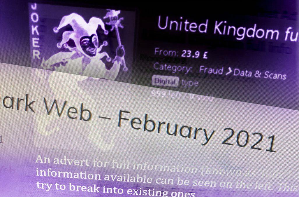 Fraud on the Dark Web – February 2021